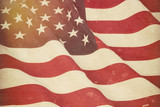 American flag with grunge effect - 199590272