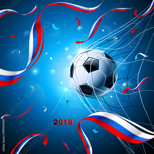 Soccer Ball with Confetti. Vector