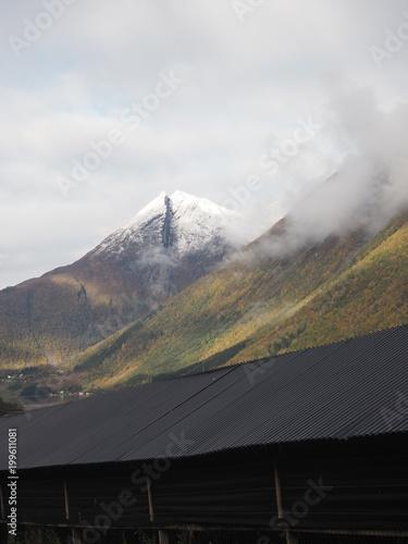 Foto op Plexiglas Grijs Mountain Nordang Valley Norway