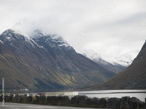 Foto op Aluminium Bergen Nordang Valley Norway