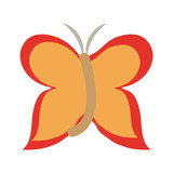 Butterfly cartoon isolated vector illustration graphic design