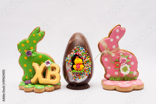 Egg with Easter hares