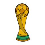 Football Soccer world trophy vector illustration graphic design - 199626209