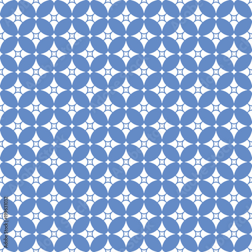 Abstract blue seamless pattern - 199631032