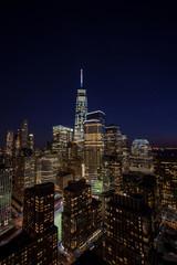 Downtown Manhattan evening