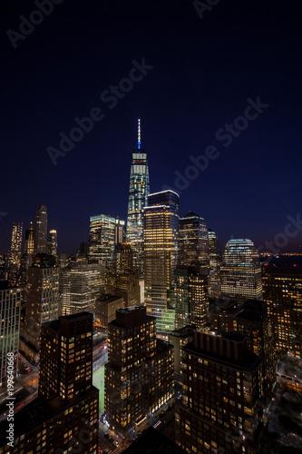 Foto Murales Downtown Manhattan evening