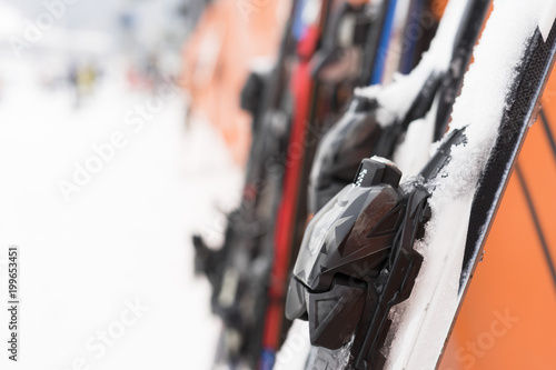 Fotobehang Seoel Crowded of tourists enjoy the activities in Jisan Forest Ski Resort in Seoul, South Korea