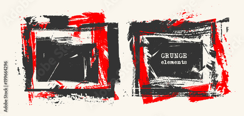 Set of grunge template backgrounds