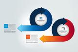 Two circle arrows  infographic, chart, scheme, diagram.