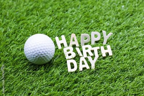 Fotobehang Bol Happy birthday to golfer