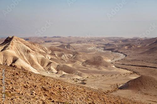 Fotobehang Bleke violet Negev natural reserve, part of Israel National Trail in Judaean Desert