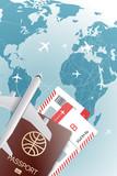 World travel concept. Vector illustration