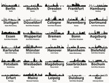 Germany largest cities skylines silhouettes vector set - 199712097