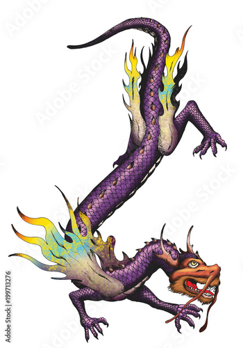 Chinese dragon isolated
