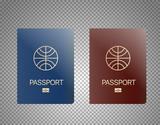 Modern passport design template