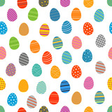 Easter eggs silhouettes seamless pattern. Easter eggs for Easter holidays design