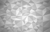 Abstract background of different triangles. Grey geometric vector background