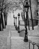 Montmartre Steps (B/W), Paris, France - 199726890