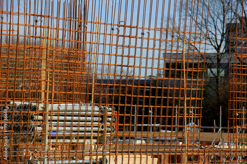 Fence at construction site - 199736648