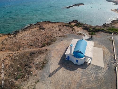 Fotobehang Cyprus Aerial view of Ayia Thekla church on Cyprus island