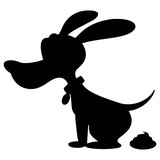 Dog Poop Silhouette - A vector cartoon illustration of a Dog Poop Silhouette.