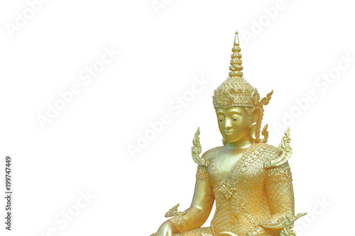 Fotobehang Boeddha Sculpture about Buddha image is Buddha posture have merciful and feel happy.