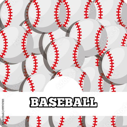 Fotobehang Bol baseball balls sport background design vector illustration