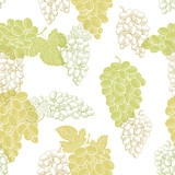 Grapes fruit graphic color seamless pattern background sketch illustration vector - 199757453