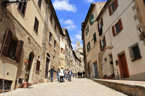 Deurstickers Toscane the city view in Volterra, Tuscany, Italy