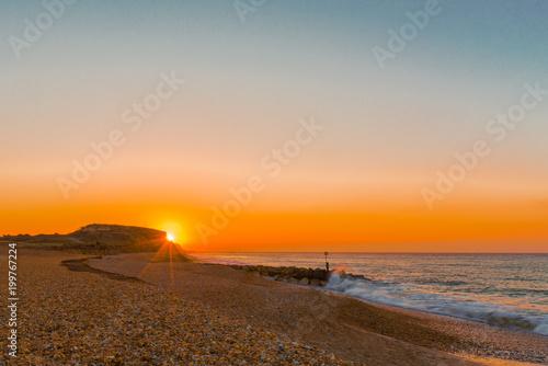 Keuken foto achterwand Ochtendgloren Sunrise at Hengistbury Head