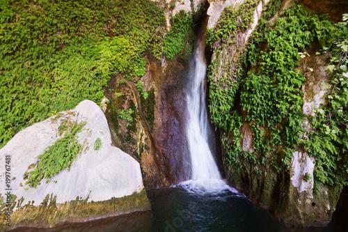Waterfall in rock