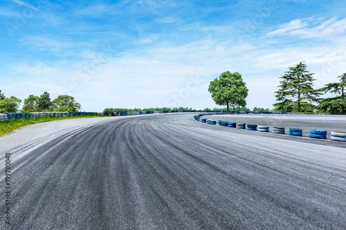 Foto op Plexiglas Grijs empty asphalt road and sky cloud landscape