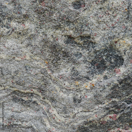 In de dag Stenen Gray texture of a stone with pink spots.
