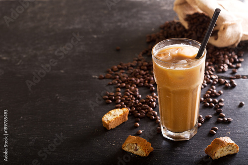 Foto Murales iced coffee in a glass