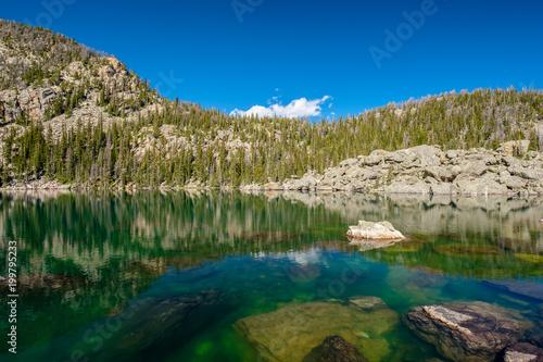 Foto op Aluminium Bergen Lake Haiyaha, Rocky Mountains, Colorado, USA.