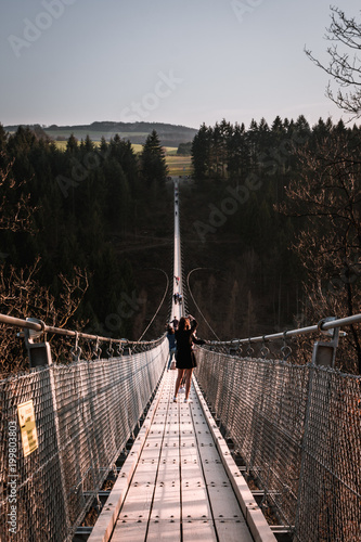 Large hanging rope bridge 3 - 199803803