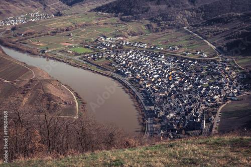 Foto op Aluminium Cappuccino Village at the river