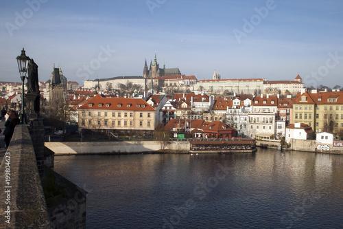 Poster Praag Prague Palace Hill