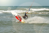 kitesurfeur en action