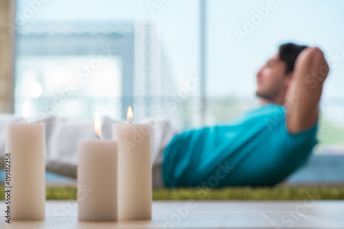 Foto op Canvas Zen Young handsome man in spa healthcare concept