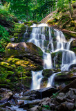 Carpathian waterfall Shypot in the morning
