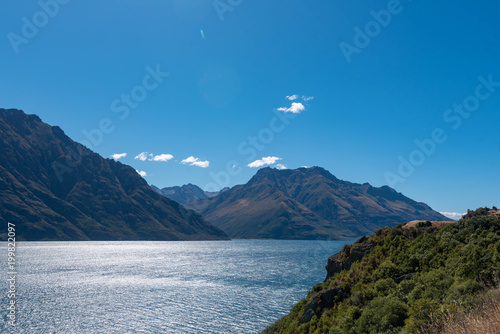 Foto op Aluminium Bergen Felsküste vor Neuseeland