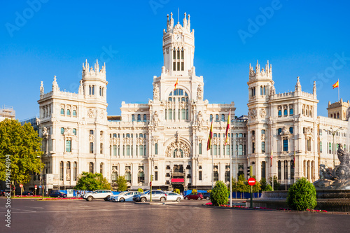 Cybele Palace in Madrid city centre, Spain