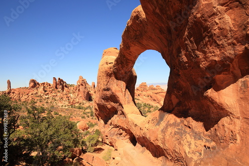 Double O Arche Utah USA Arches Nationalpark Poster
