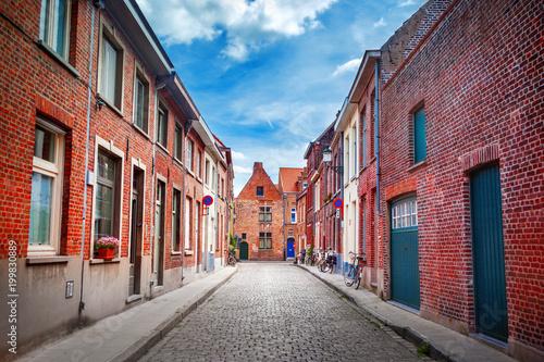 Foto op Canvas Brugge Street of Brugge, Belgium