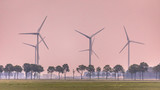 Open countryside with wind turbines