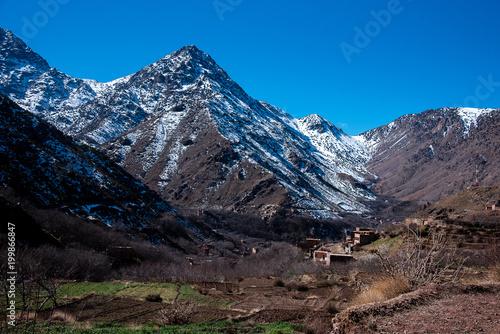 Keuken foto achterwand Marokko High Atlas Mountains Winter