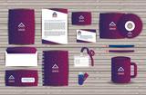 corporate company advertising set elements vector illustration design - 199873473