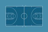 basketball court illustration