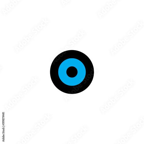 Fotobehang Uilen cartoon art of the eye of owl logo vector
